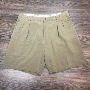 Tommy Bahama Tan Herringbone Silk Shorts 38